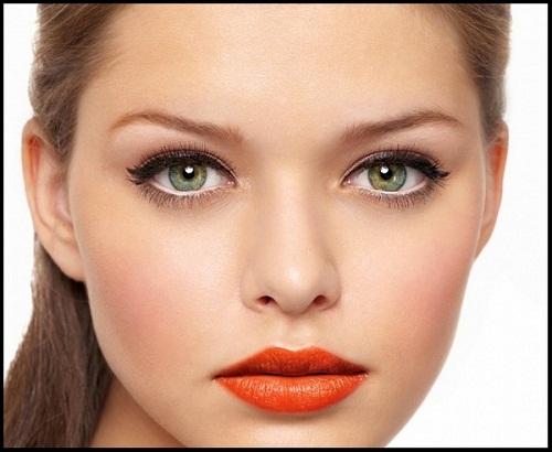 макіяж для сіро-зелених очей фото