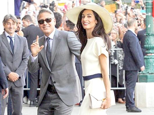 Амаль Аламуддін і Джордж Клуні. Фото: All Over Press.