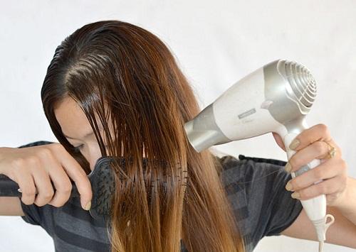 висушуємо волосся фото