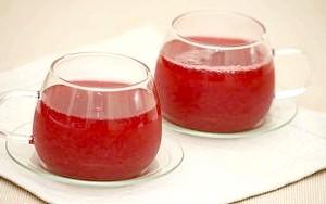 Кисіль із замороженої полуниці