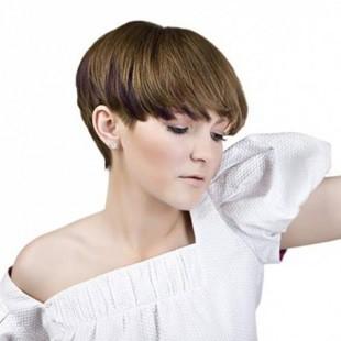 Стрижка шапочка на коротке волосся