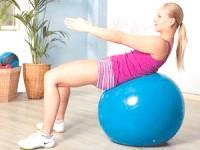 Вправи на м'ячі для схуднення