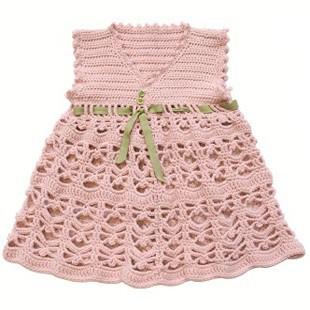 В'язані гачком сукні для дівчаток